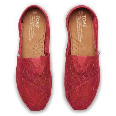 Červené dámské krajkové TOMS Alpargatas