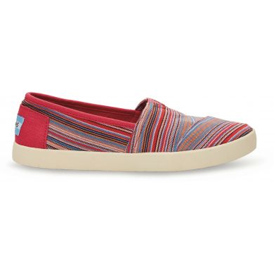 Raspberry Stripe Woven Women's Avalon Sneaker