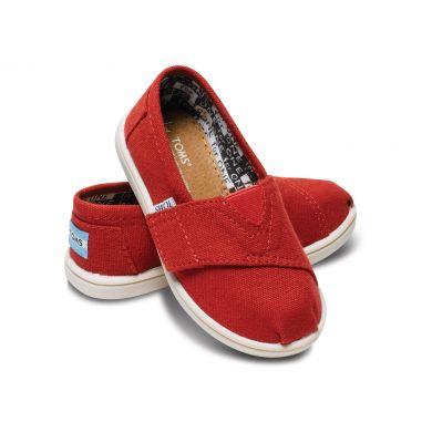 Dětské červené TOMS Tiny Classic Alpargatas