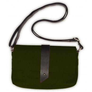 Zelená plstěná kabelka TOMS