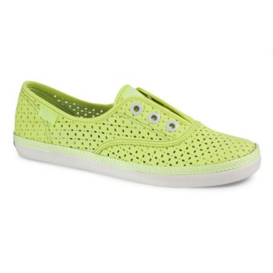 Rookie Laceless Perf Neon Yellow