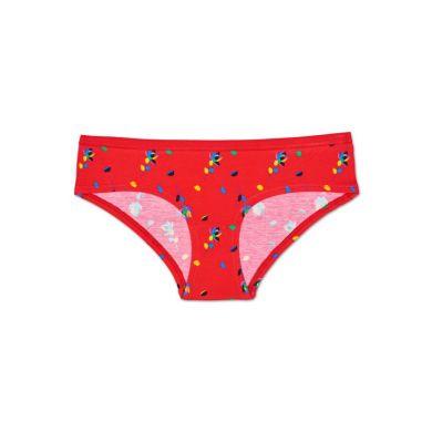 Červené kalhotky Happy Socks s barevným vzorem Rose Petal