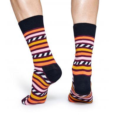 Barevné pruhované ponožky Happy Socks, vzor Stripes and Stripes