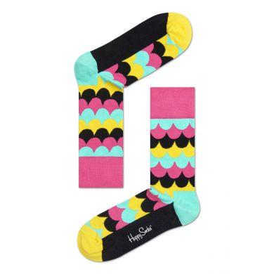 Barevné ponožky Happy Socks se šupinami, vzor Scales