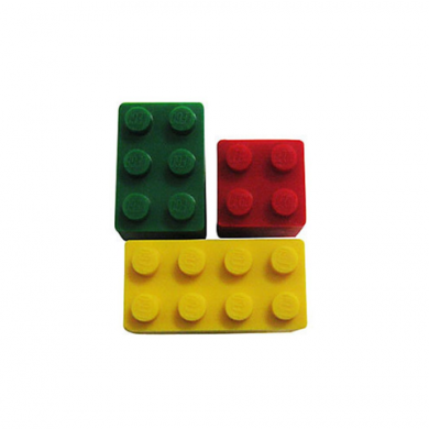 Jibbitz Lego Bricks RGY -3pk