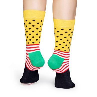 Barevné pruhované ponožky Happy Socks se vzorem Stripe Dot