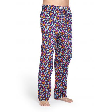 Fialové kalhoty Happy Socks s barevnými houbičkami, vzor Shroom