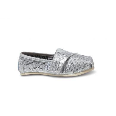 Dětské stříbrné TOMS Tiny Alpargatas
