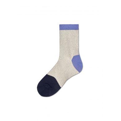Dámské béžovo-fialové ponožky Happy Socks Janni // kolekce Hysteria