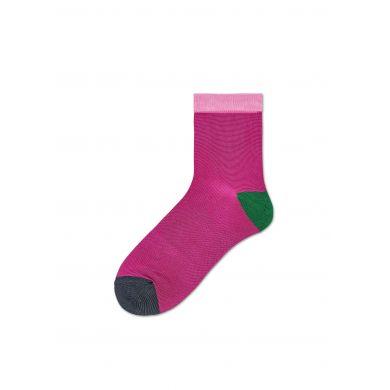 Dámské růžové ponožky Happy Socks Grace // kolekce Hysteria