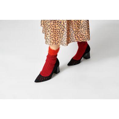 Dámské červené ponožky Happy Socks Judit // kolekce Hysteria