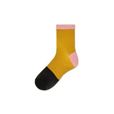 Dámské žluto-černé ponožky Happy Socks Liza // kolekce Hysteria