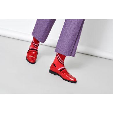 Dámské fialové ponožky Happy Socks Lulu // kolekce Hysteria