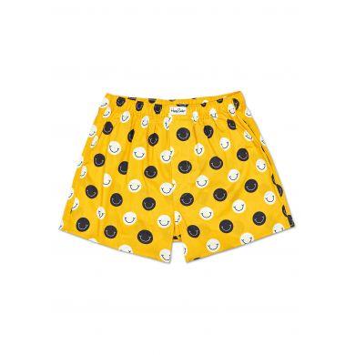 Žluté trenýrky Happy Socks se smajlíky, vzor Smile