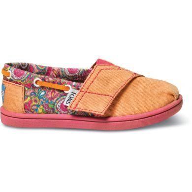 Dětské oranžové TOMS Paisley Tiny Biminis