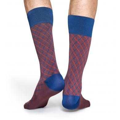 Vínové ponožky Happy Socks, vzor Square Optic // kolekce Dressed