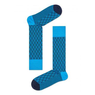 Modré ponožky Happy Socks, vzor Square Optic // kolekce Dressed