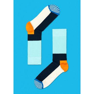 Modré ponožky Happy Socks s barevným vzorem Striped Toe