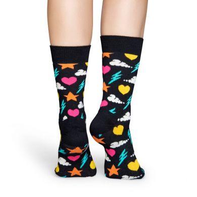 Černé ponožky Happy Socks s barevným vzorem Storm