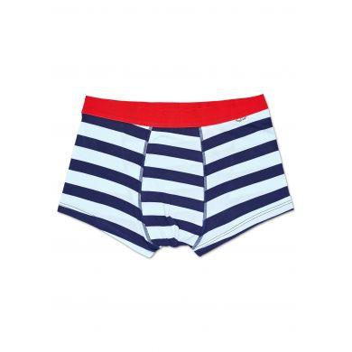 Modro-bílé pruhované boxerky Happy Socks, vzor Stripes