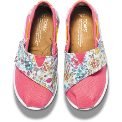 Dětské růžové TOMS Floral Tiny Biminis