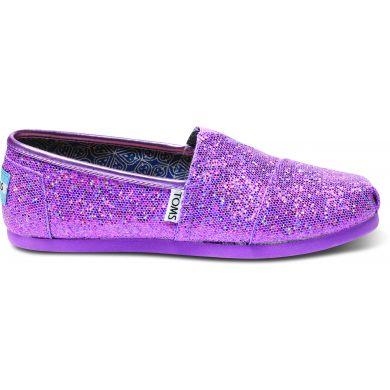 Dětské fialové TOMS Glitter Youth Alpargatas