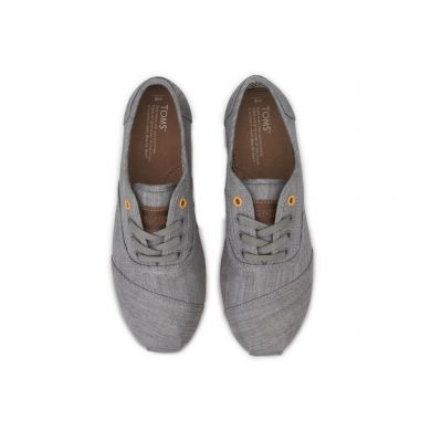 Grey Denim Orange Pop Cordones