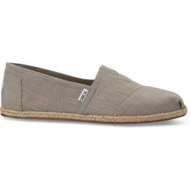 Light Grey Linen Alpargatas