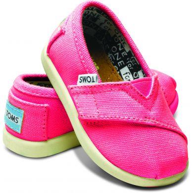 Dětské růžové TOMS Tiny Alpargatas