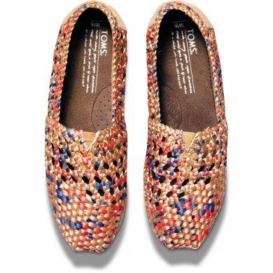 Barevné dámské saténové TOMS Crochet Alpargatas