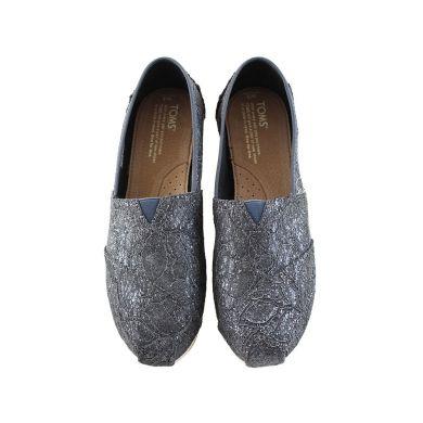Grey Pewter Lace Glitz Women's Classics Alpargatas Espadrille
