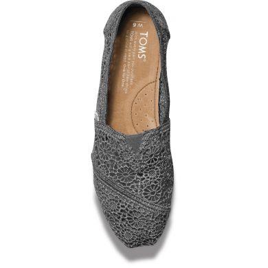 Šedé dámské TOMS Crochet Alpargata