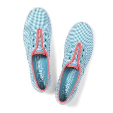 Rookie Laceless Aqua/White