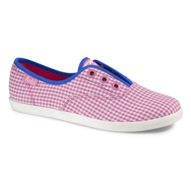 Rookie Laceless Gingham Pink/White