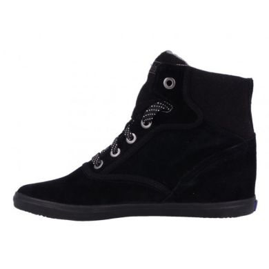Rookie Wedge Suede Black