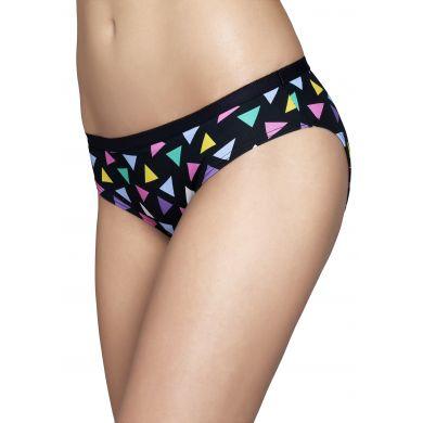 Černé kalhotky Happy Socks s barevnými trojúhelníky, vzor Random Triangle