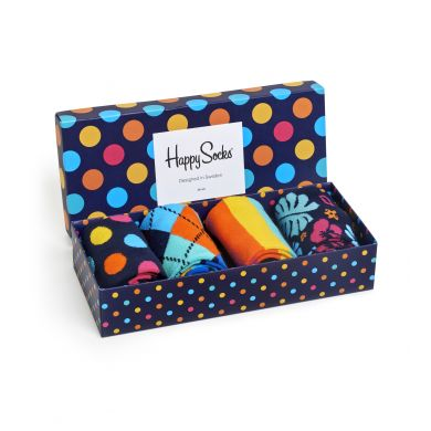 Dárkový box ponožek Happy Socks Dots - 4 páry
