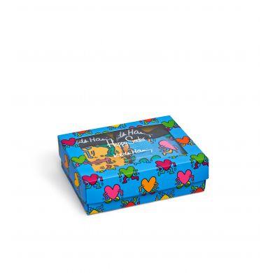 Dárkový box boxerek Happy Socks Keith Haring Valentine´s day, 2 páry