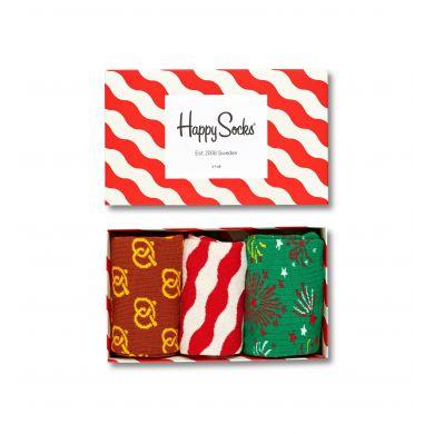Dárkový box ponožek Happy Socks Xmas - 3 páry