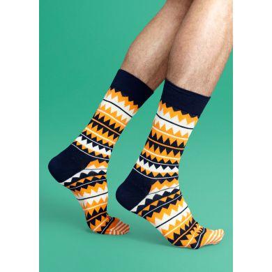 Barevné ponožky Happy Socks se zubatým vzorem, vzor Zig Zag