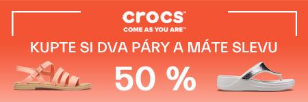 2 páry Crocs = sleva 50 %
