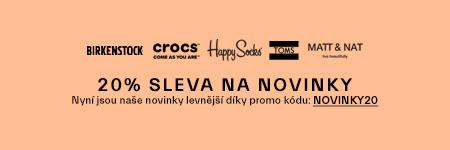 Novinky Crocs sleva 20 %