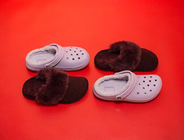 Urbanlux Vánoce - Zateplené pantofle Crocs